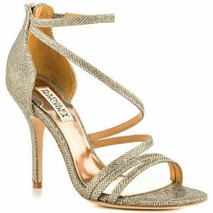 Badgley Mischka  Landmark gold strappy sandals